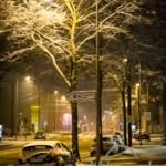 Es schneit in Magdeburg Buckau