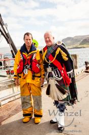 Isle of Skye  –   Portree  –  Dudelsackspieler