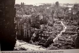Blick von Johanniskirche nach dem Angriff auf Magdeburg am 16.1.1945