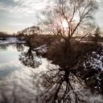 Winterspaziergang jenseits von Magdeburg