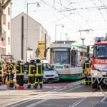 Unfall mit Straßenbahn in Buckau