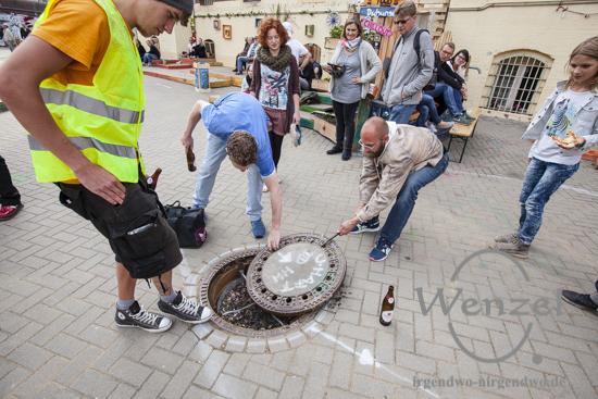 Flucht  durch die Kanalisation –  Kunst in der ehemaligen JVA Magdeburg
