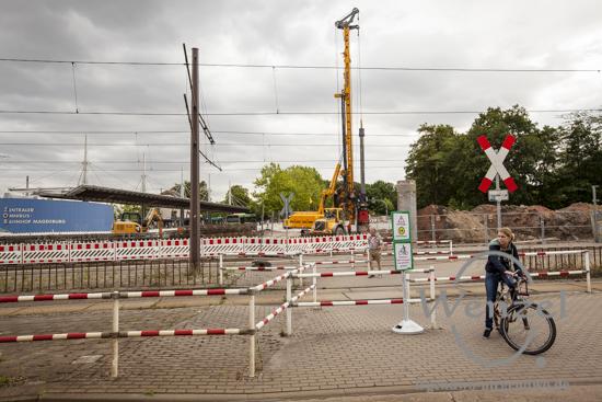 Baustelle City-Tunnel Magdeburg – Damaschekeplatz