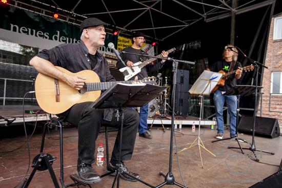Johan Meijer, Mikhail Ivanov und Frank Viehweg beim Festival Gundis Lieder – Gundis Themen