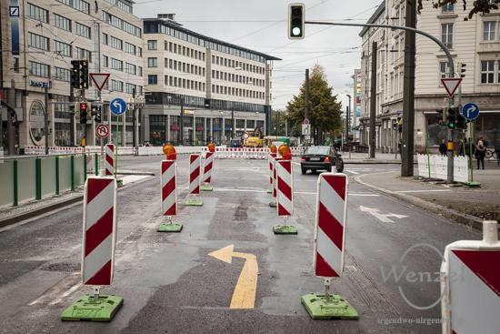 Baustelle City-Tunnel ist für den  Fahrzeugverkehr gesperrt