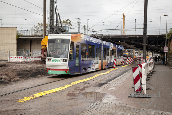 Baustelle City-Tunnel Magdeburg Oktober 2015 – Bahnunterführung