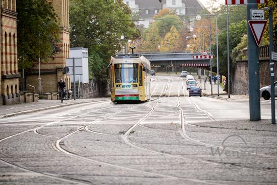 Magdeburg im Herbst - Hallische Straße