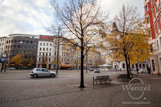 Magdeburg im Herbst - Hasselbachplatz