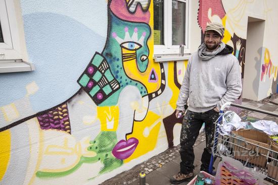 Buckau wird bunt(er) - der Magdeburger Künstler Max Grimm