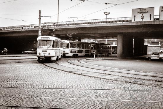 Straßenbahn  Damaschkeplatz Magdeburg