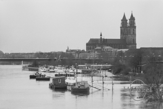 Elbhochwasser Magdeburg –  Frühjahr 1988