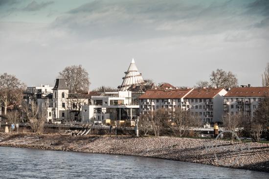 Unterwegs in Magdeburg - Januar 2016 -  Blick zum Werder