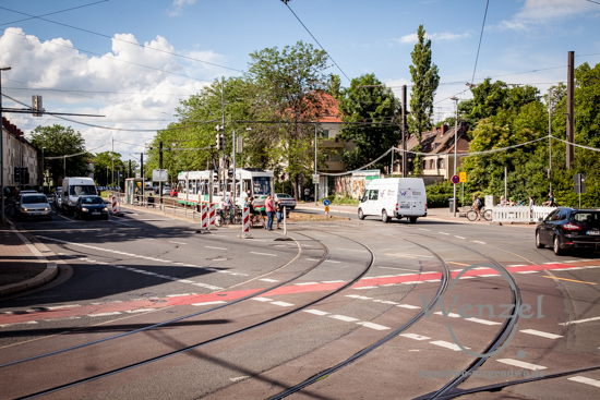 Kreuzung Südring/Halberstädter Straße – ein neues Gleisviereck wird gebaut