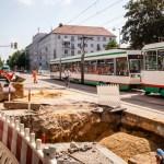Baustelle an Kreuzung Leipziger-Wiener Straße sorgt für Behinderungen