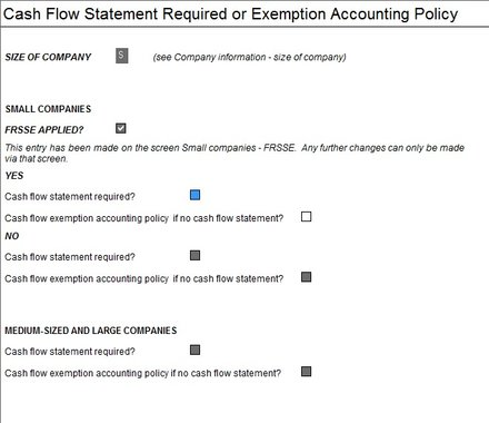 IAS-12193 How do I take exemption form the Cash Flow Statement?