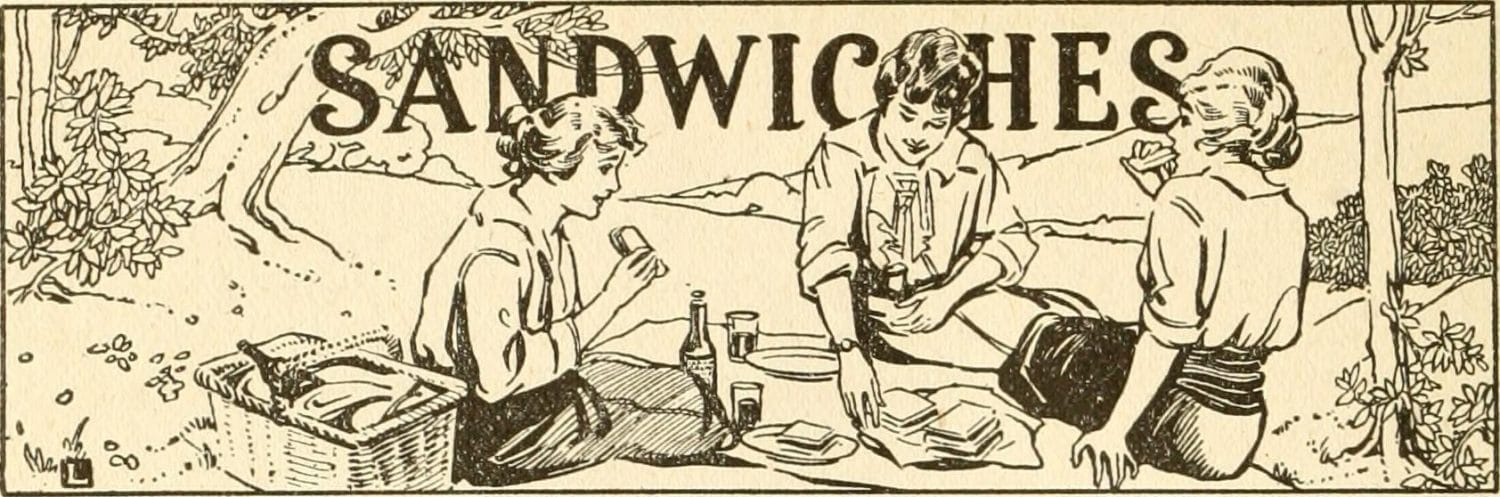 vintage drawing sandwiches Internet Archive Book Images