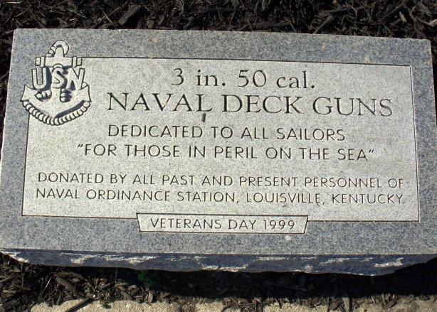 Stone Marker Veteran's park