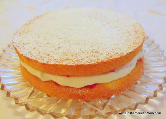 Irish Sponge cake - no butter recipe