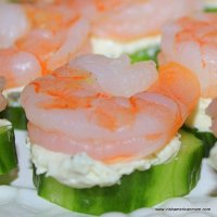 Easy Appetizers - Shrimp and Cucumber Bites
