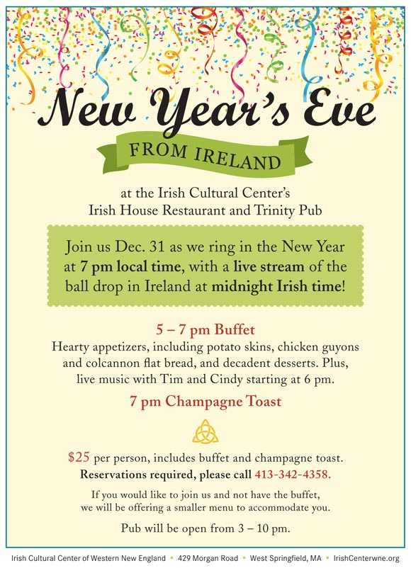 Celebrate New Year\u0027s Eve from Ireland Irish Cultural Center of