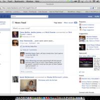 New Facebook screenshot