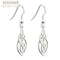 Celtic Earrings - Sterling Silver Celtic Trinity Knot ...