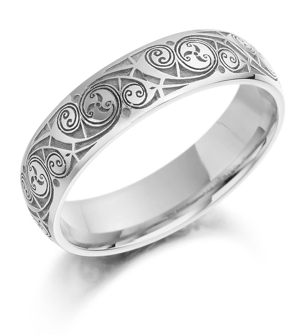 celtic wedding ring ladies gold celtic spiral triskel irish wedding band gold wedding rings Celtic Wedding Ring Ladies Gold Celtic Spiral Triskel Irish Wedding Band