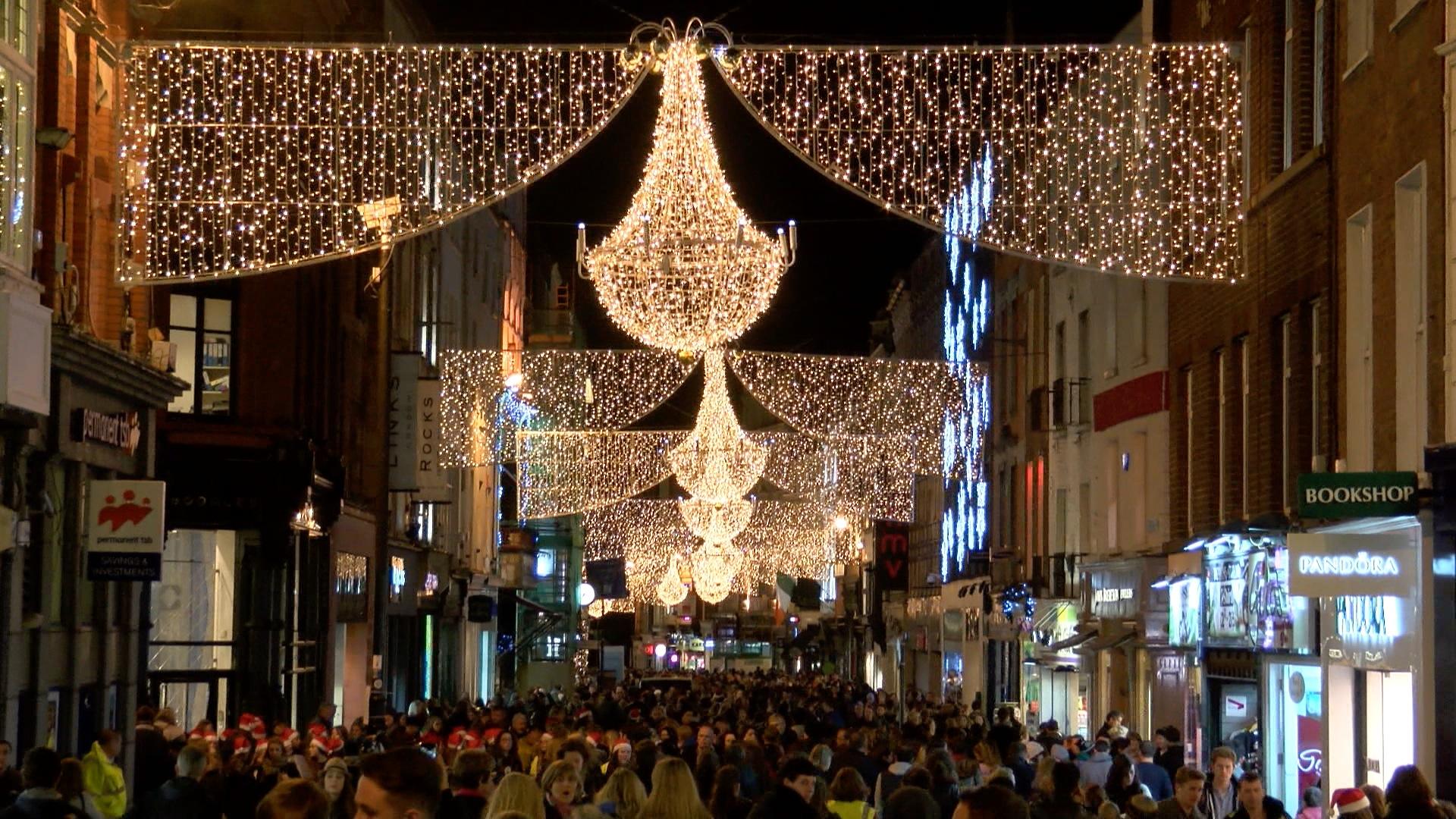 Terror Wallpaper Hd Christmas Lights Up Grafton Street