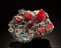 Collectors love these cherry red crystals from Colorado.