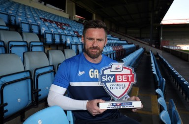 Manager of Month Graham Alexander of Scunthorpe United picture by Nigel Roddis