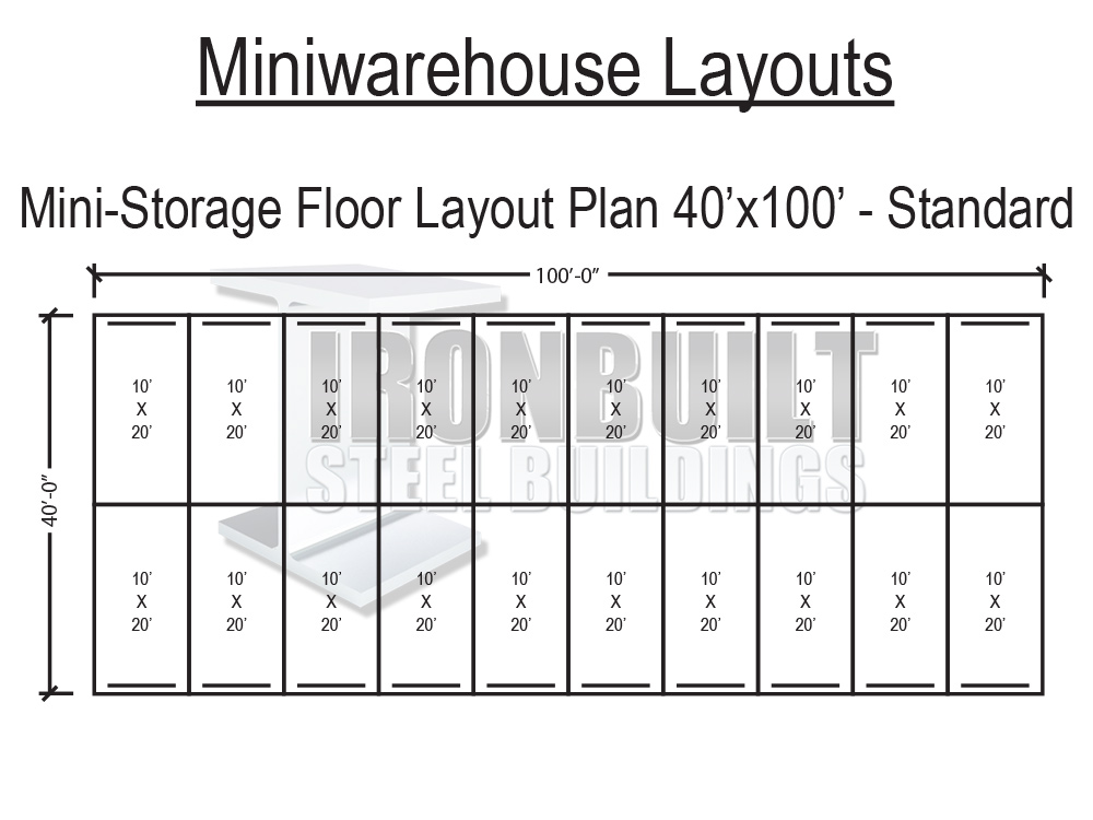 dwg-40x100-standardjpg (1000×750) self storage Pinterest - warehouse skills