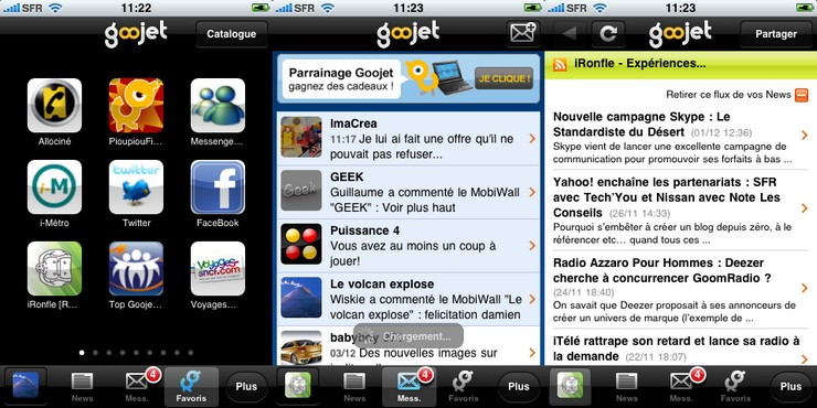 goojet nouvelle version iphone application