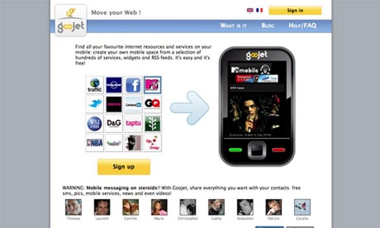 goojet homepage 2009
