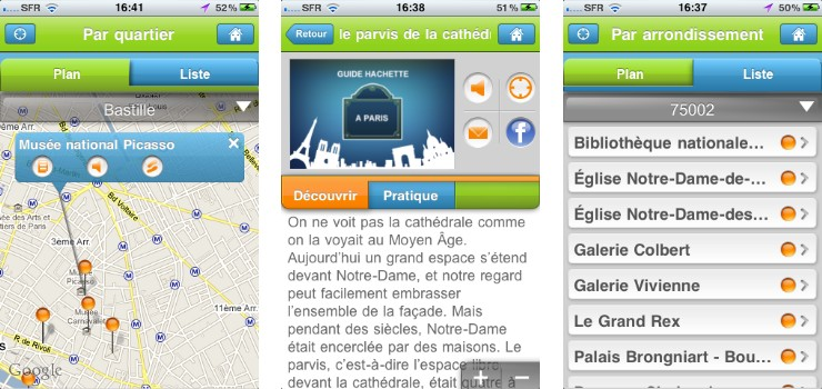 guide hachette paris application iphone 3