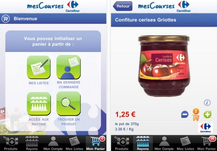 application carrefour mes courses iphone