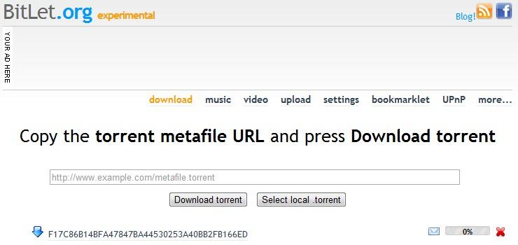 bitlet torrent client web