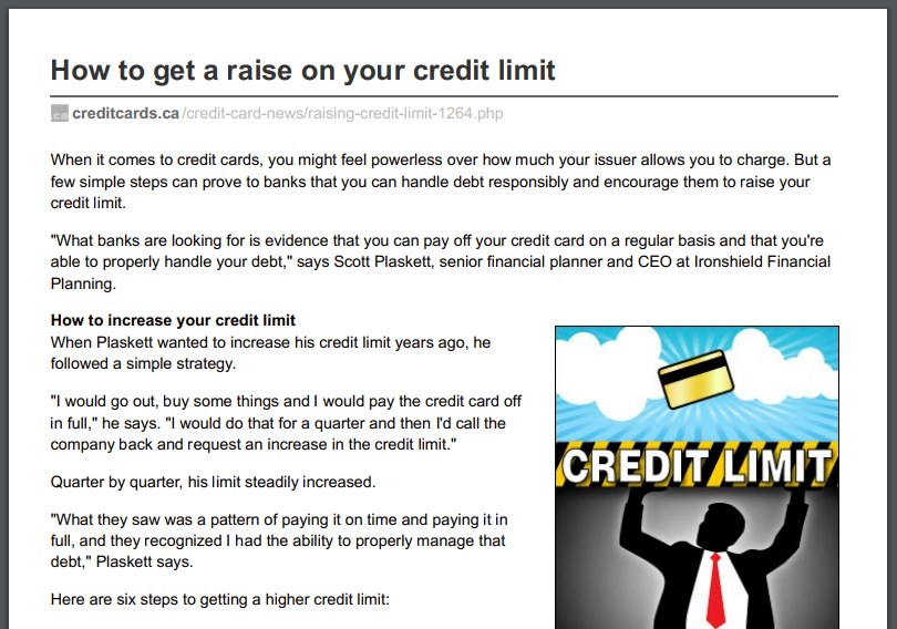 How to get a raise on your credit limit Ironshield Financial Planning