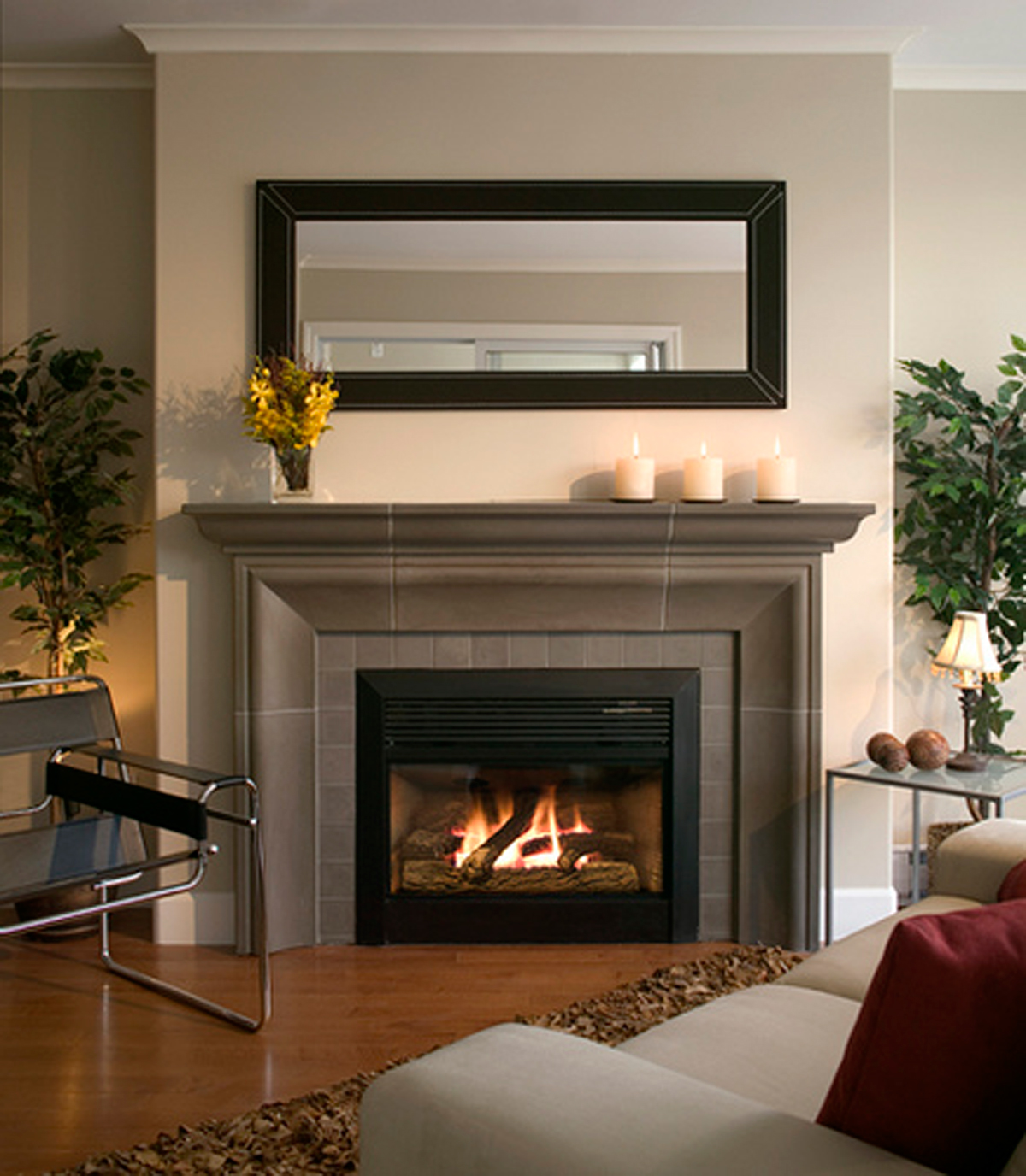 Contemporary Gas Fireplace Designs With Fascinating