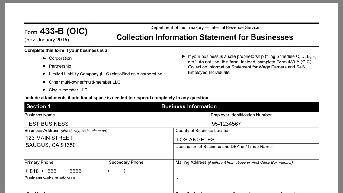 IRS Solutions - Form 656 offer in compromise software - corporate resolution form