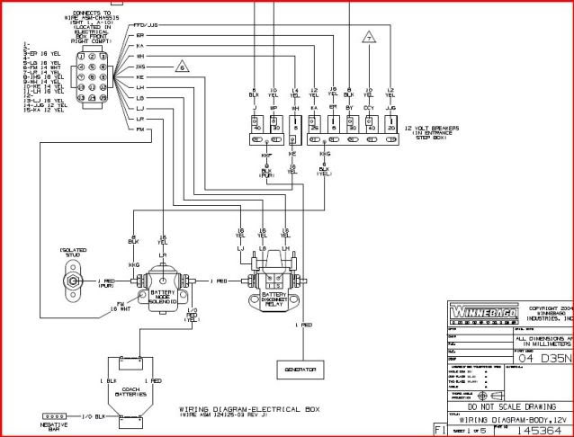 winnebago chassis wiring diagram ignition wiring schematic