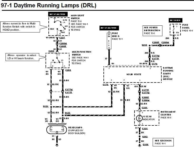 Ford F53 Headlight Wiring - Wiring Data schematic