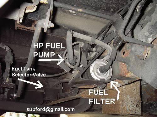 Ford F 250 Fuel Filter circuit diagram template
