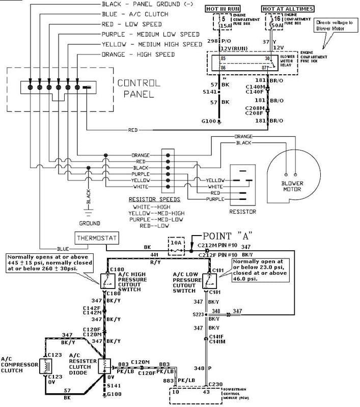 Ford F53 Wiring Diagram Heater Fan Wiring Diagram