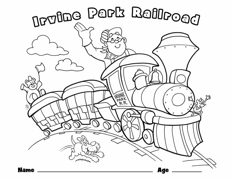 Children\u0027s Coloring Page - Irvine Park Railroad