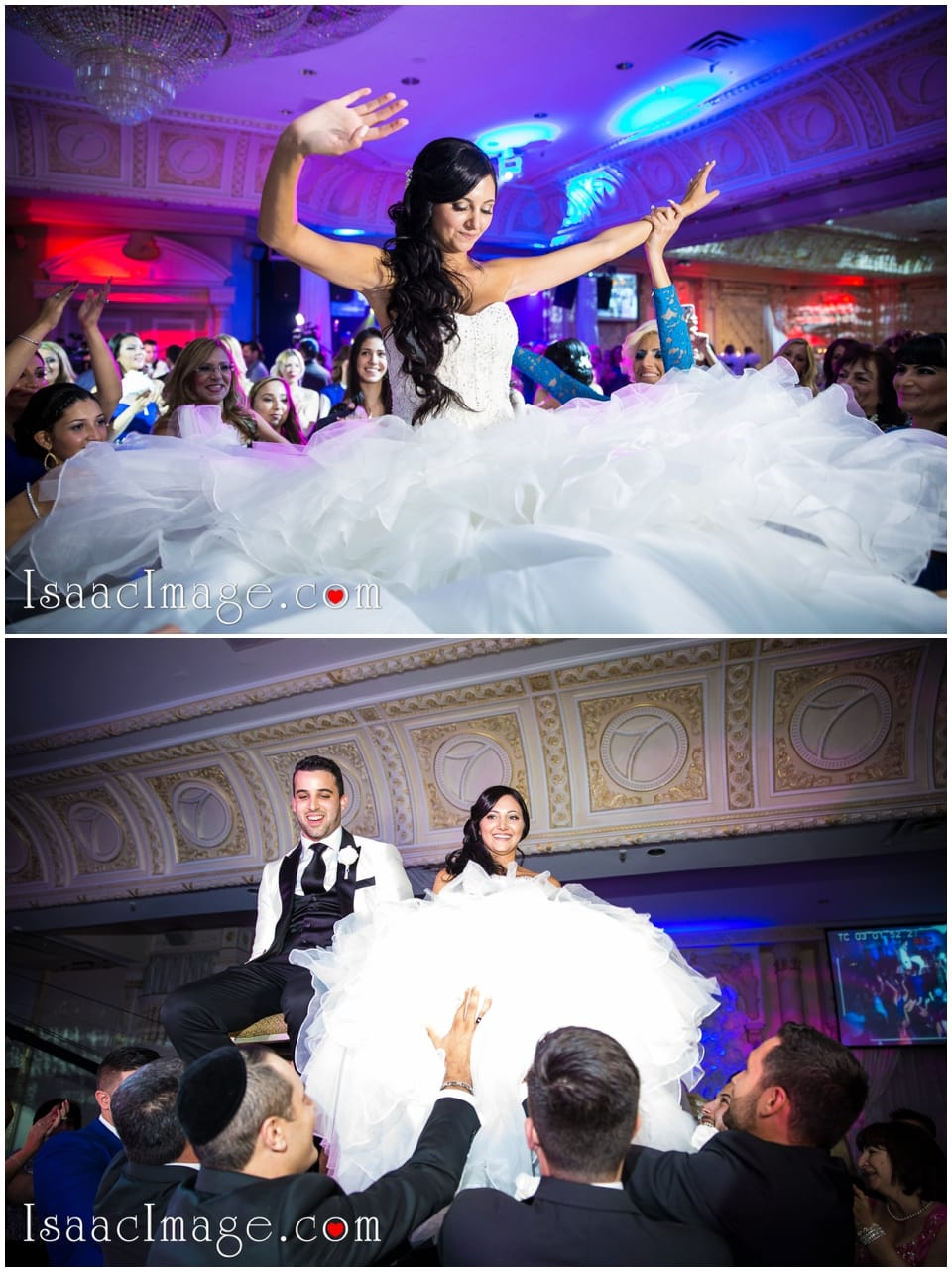 lifting up bride and groom jewish wedding