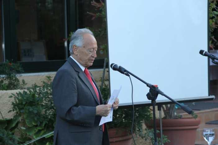 Ο Πρόεδρος Δ.Σ. του Ιδρύματος «Μαρία Τσάκος», κ. Ευθύμιος Ηλ. Μητρόπουλος κατά τη διάρκεια της ομιλίας του