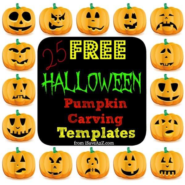 25 (Easy) Free Halloween Pumpkin Carving Templates - iSaveA2Z