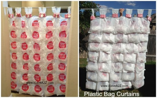 Recycle Project Plastic Bag Curtains Isavea2zcom
