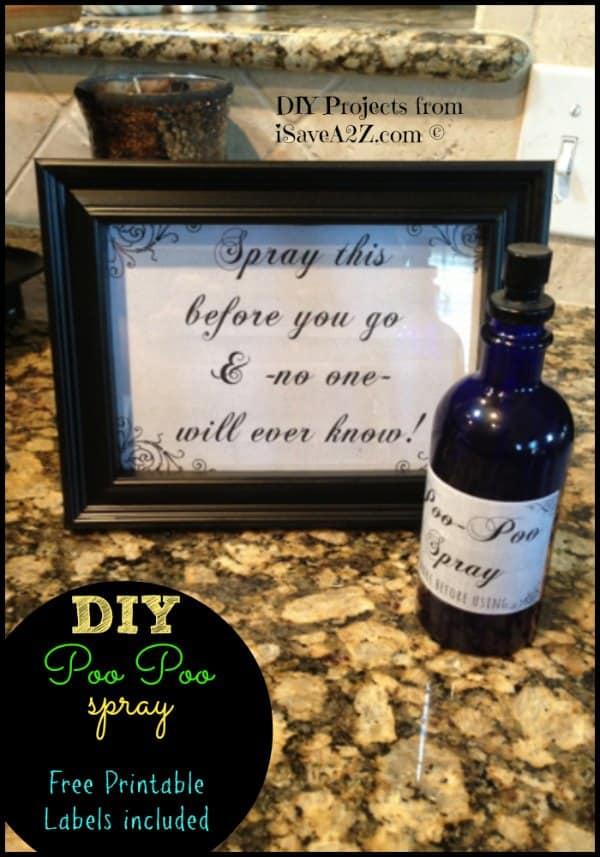 DIY Poo Poo Bathroom Spray (Printable Labels Included) - iSaveA2Z