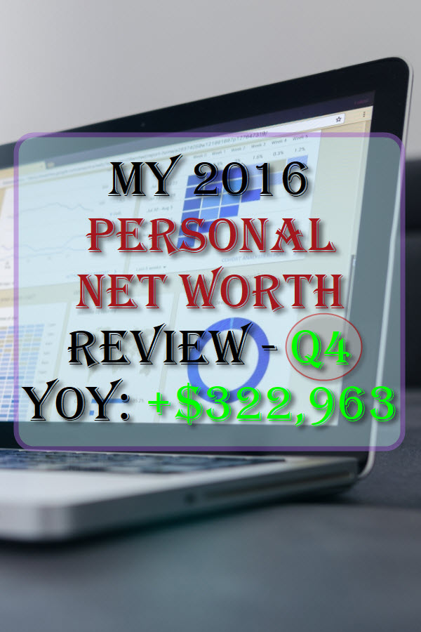 My 2016 Personal Net Worth Review - Q4